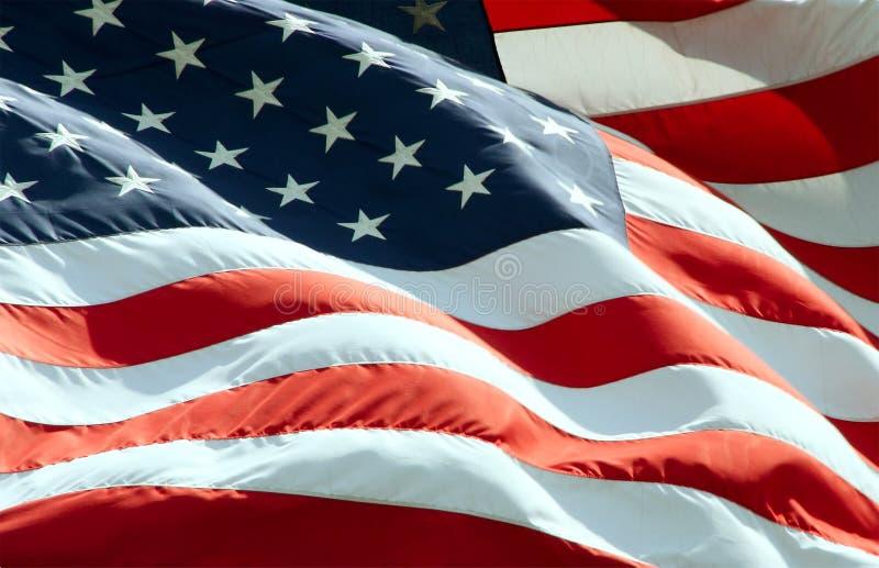 Bandiera americana d'ondeggiamento fotografia stock