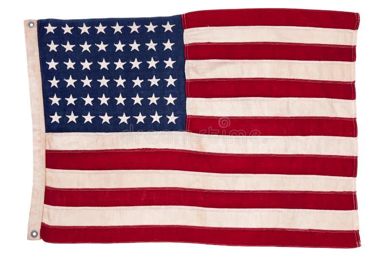 Bandiera americana dell'annata fotografia stock