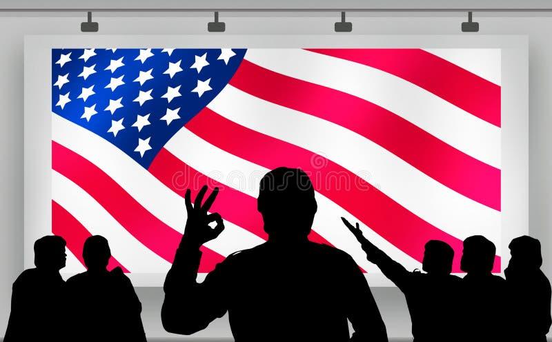 Bandiera americana di elezioni presidenziali