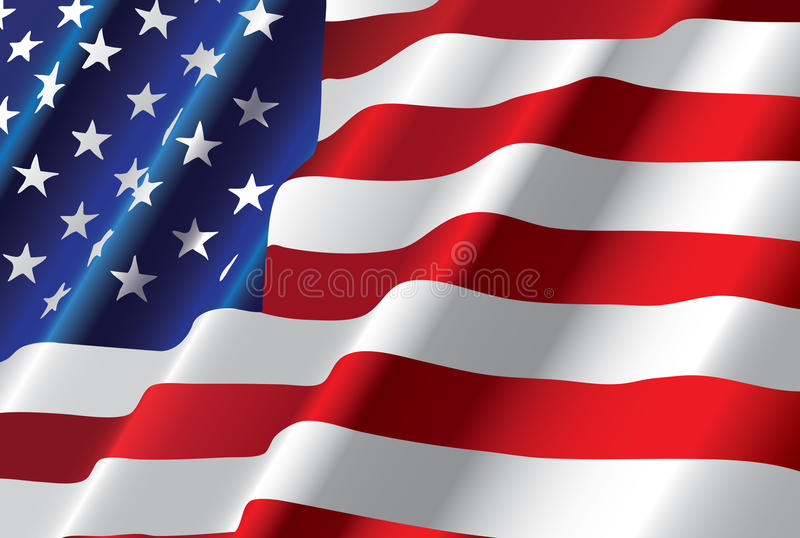 Bandiera americana di vettore royalty illustrazione gratis