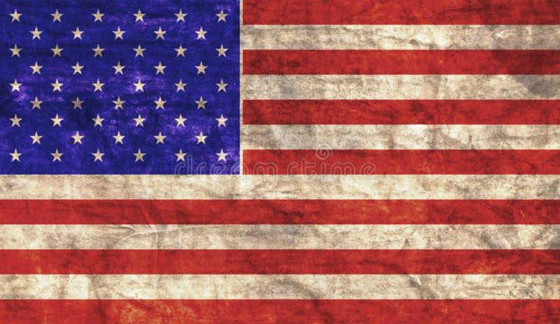Bandiera americana Grungy immagine stock