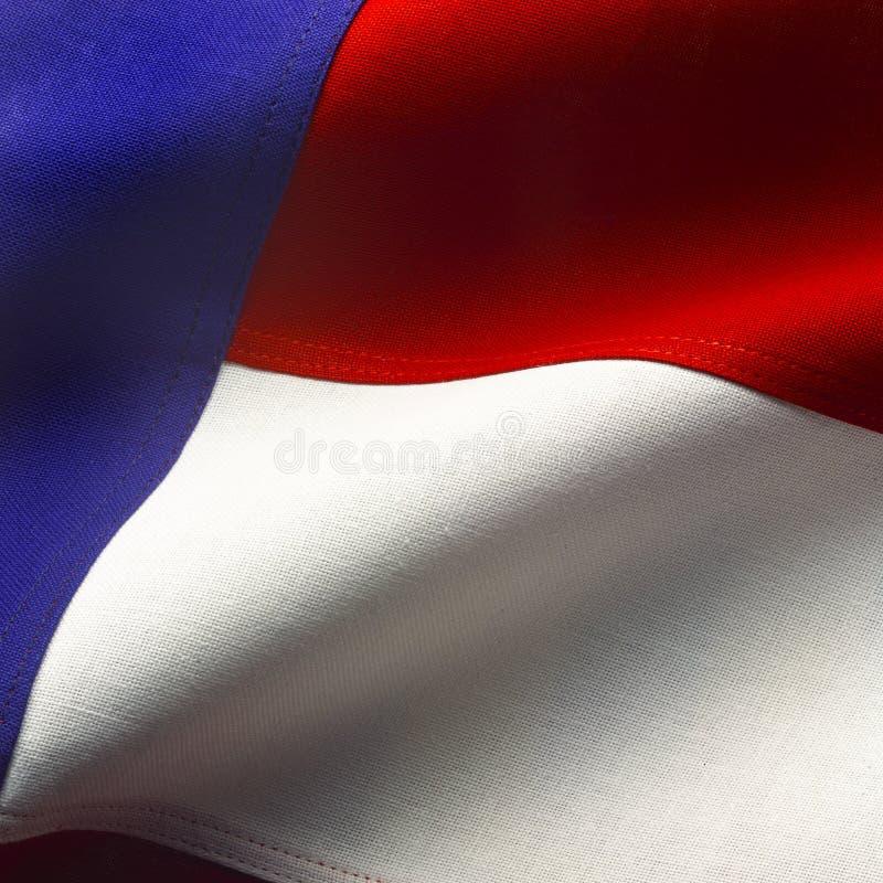 Bandiera americana a macroistruzione immagini stock