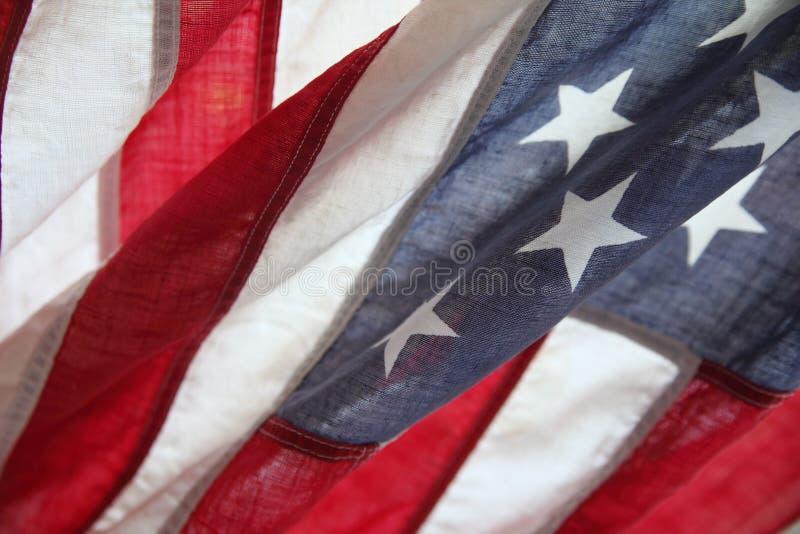 Bandiera americana molto vecchia immagini stock