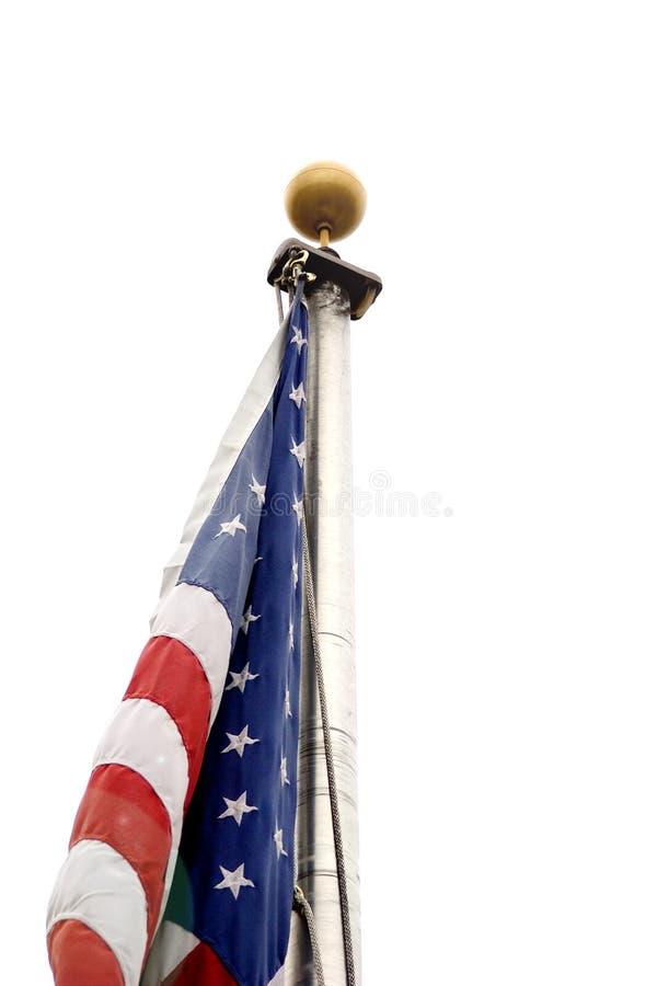 Bandiera americana senza vento fotografia stock