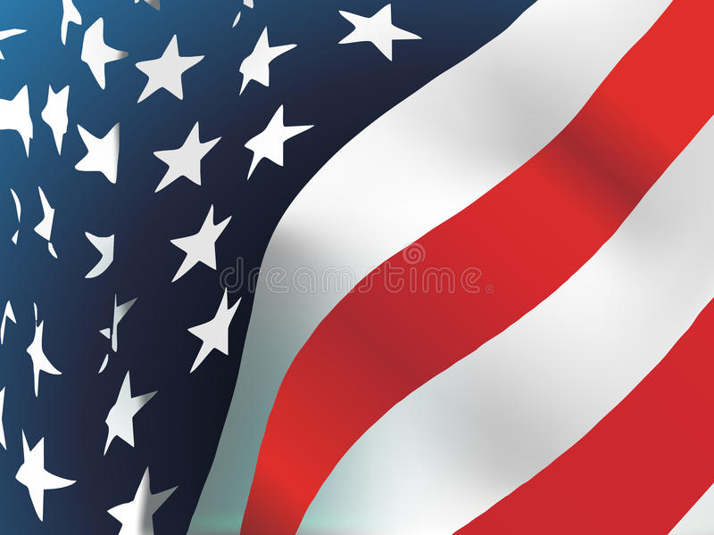 Bandiera americana, vettore illustrazione di stock