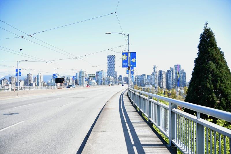 bandiera Aprile è mese del narciso Vancouver BC Canada aprile 2019 immagini stock