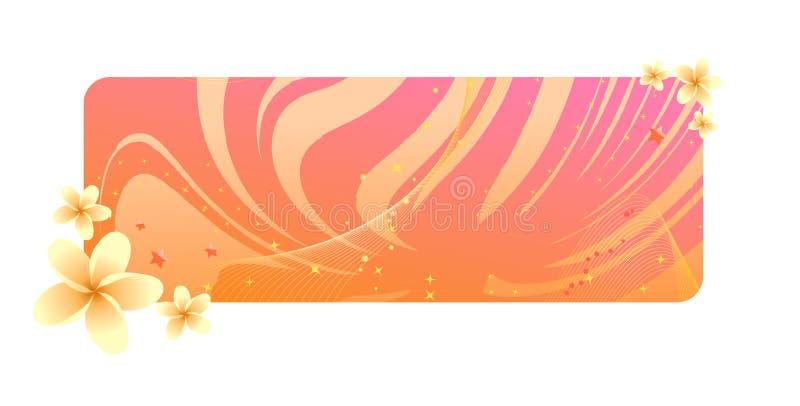 Bandiera arancione del frangipani royalty illustrazione gratis