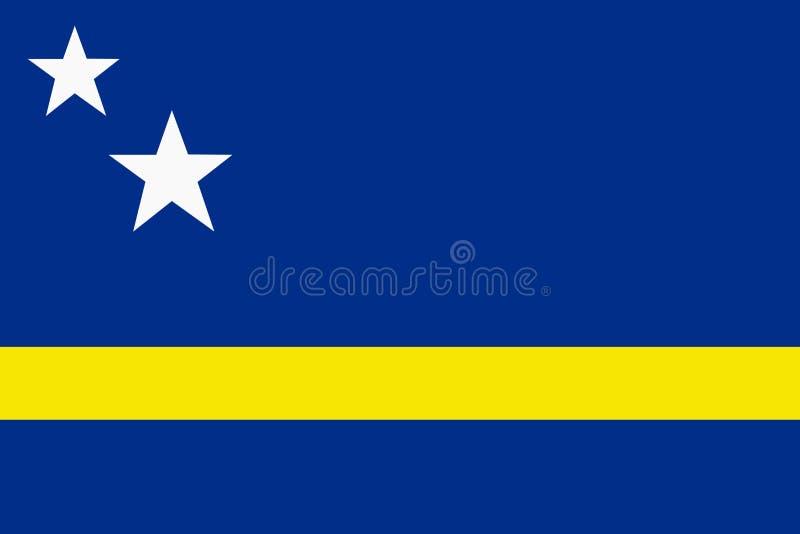 Bandiera archivio dell'illustrazione del fondo del Curacao di grande illustrazione vettoriale