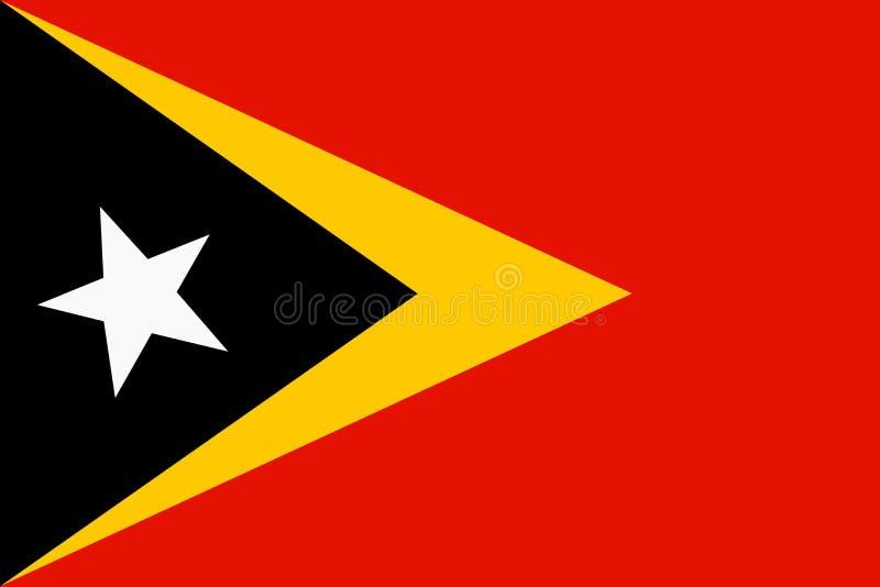 Bandiera archivio dell'illustrazione del fondo di Timor orientale di grande royalty illustrazione gratis