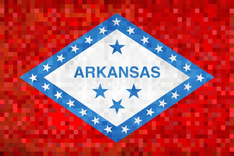 Bandiera astratta del mosaico di lerciume dell'Arkansas illustrazione vettoriale