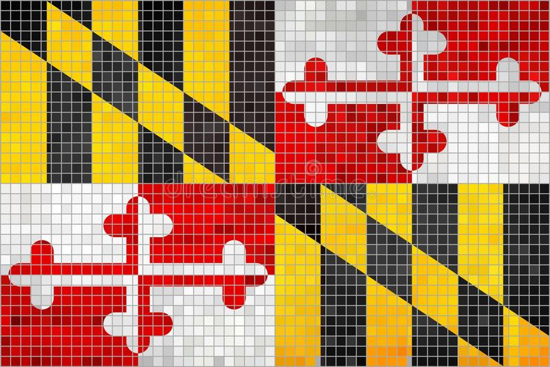 Bandiera astratta del mosaico di Maryland illustrazione di stock