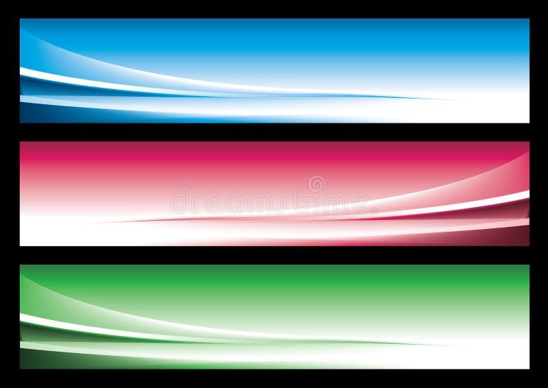 Bandiera astratta di Web illustrazione vettoriale