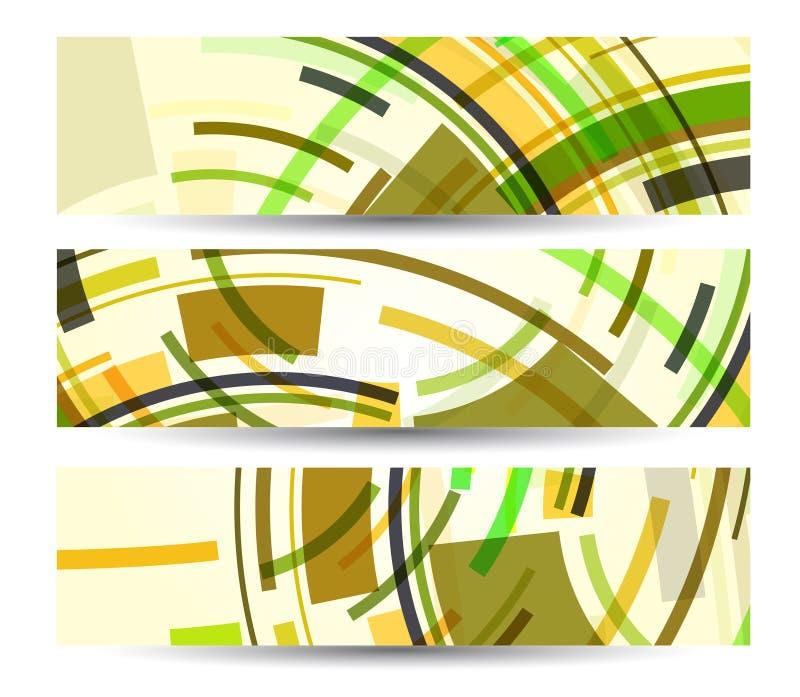 Bandiera astratta per il vostro disegno illustrazione vettoriale