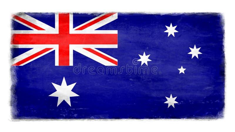 Bandiera australiana distrutta fotografia stock libera da diritti