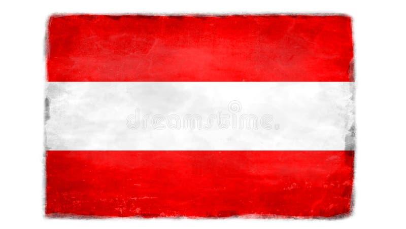 Bandiera austriaca distrutta immagini stock