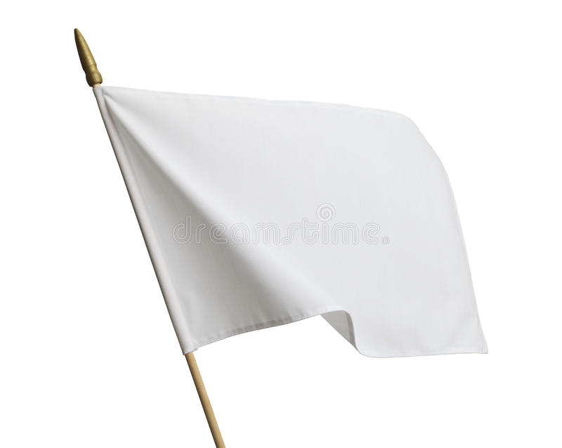 Bandiera bianca immagine stock libera da diritti