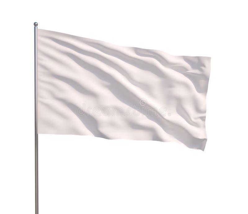 Bandiera bianca d'ondeggiamento illustrazione vettoriale