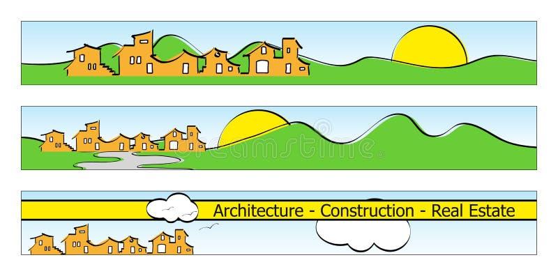 Bandiera, biglietto da visita o insegne di Web illustrazione di stock