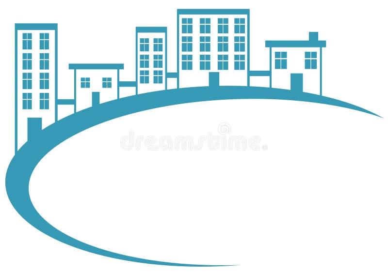 Bandiera blu dell'alloggiamento illustrazione vettoriale