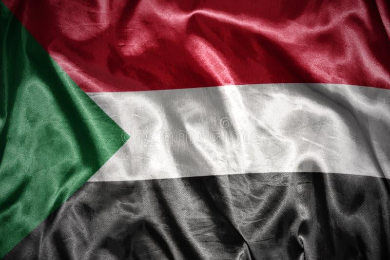 bandiera brillante del sudanese immagine stock