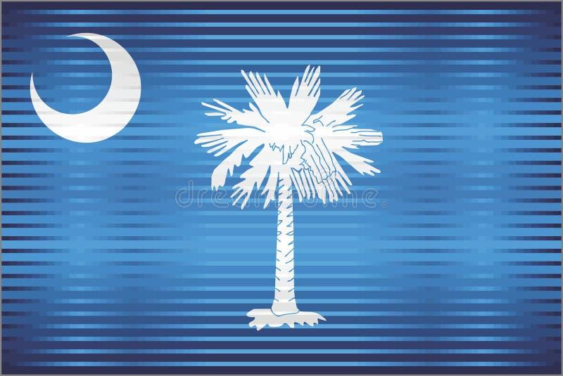 Bandiera brillante di lerciume della Carolina del Sud illustrazione di stock