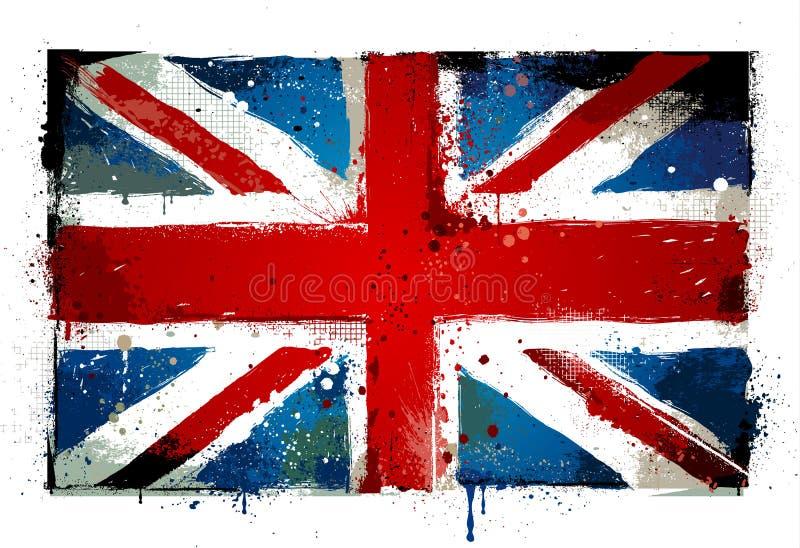 Bandiera BRITANNICA Grungy royalty illustrazione gratis