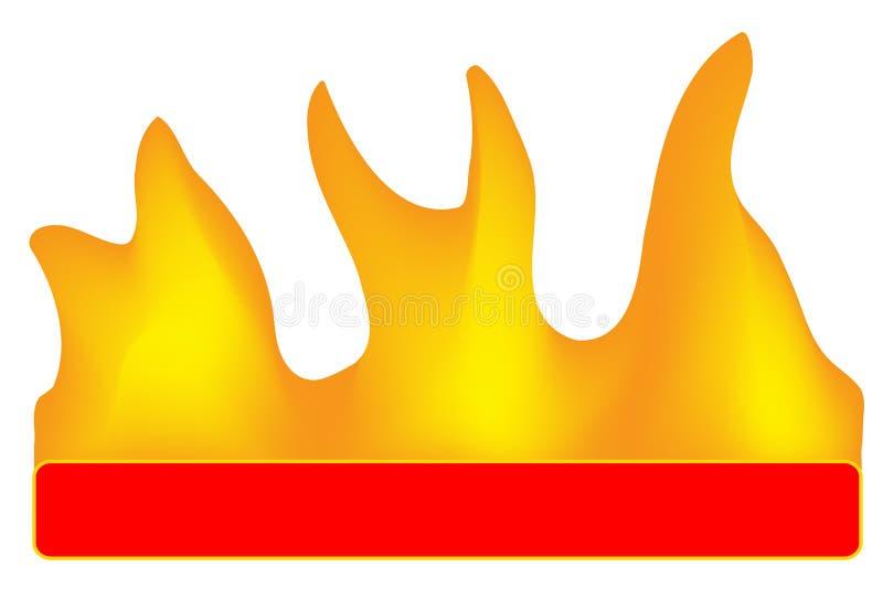 Download Bandiera Burning illustrazione vettoriale. Illustrazione di chiarore - 7322078