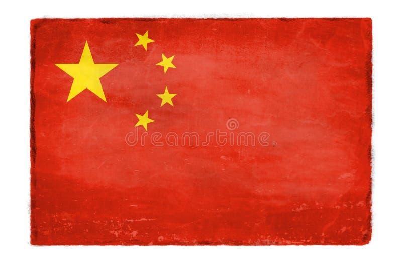 Bandiera cinese distrutta fotografie stock