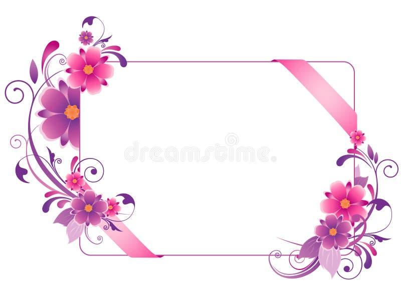 Bandiera colorata con i fiori royalty illustrazione gratis