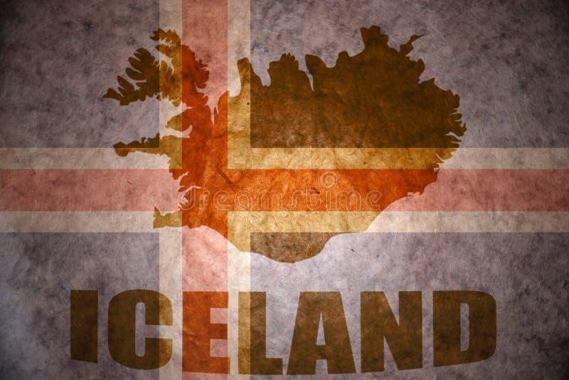 Bandiera d'annata dell'Islanda immagine stock libera da diritti