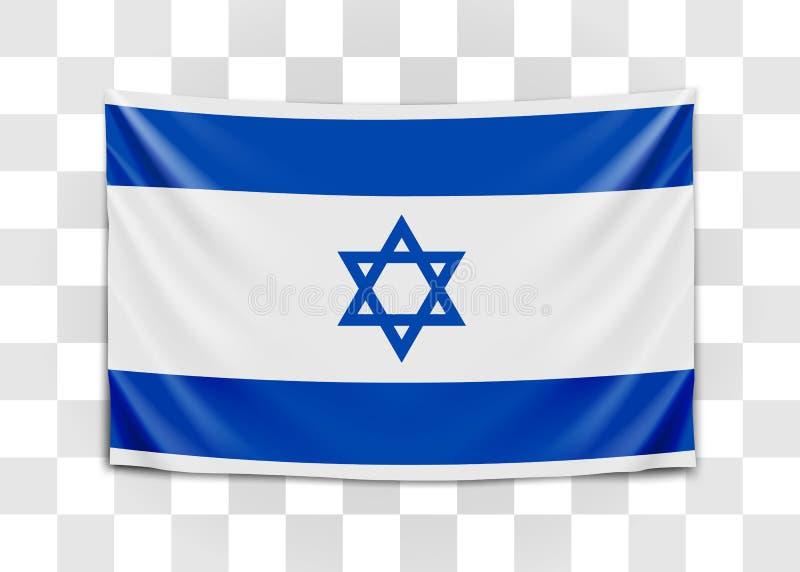 Bandiera d'attaccatura di Israele Stato d'Israele Concetto israeliano della bandiera nazionale royalty illustrazione gratis