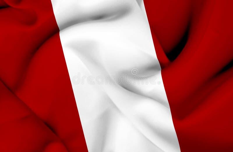 Bandiera d'ondeggiamento del Per? illustrazione di stock