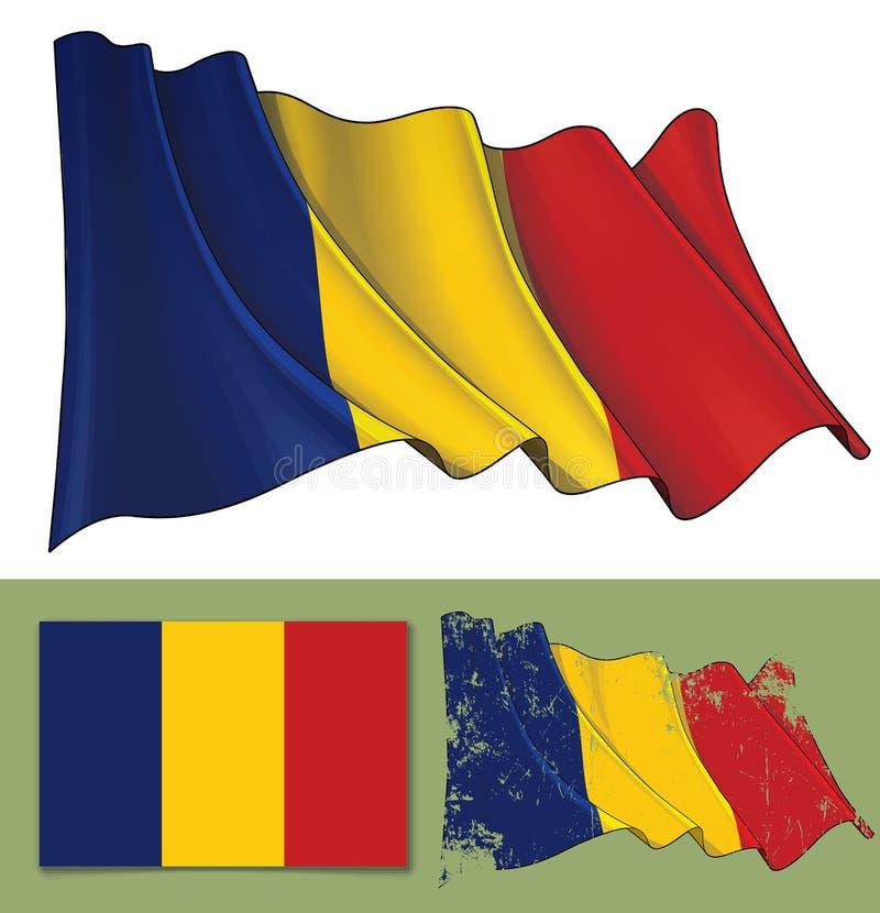 Bandiera d'ondeggiamento del ritaglio illustrazione di stock