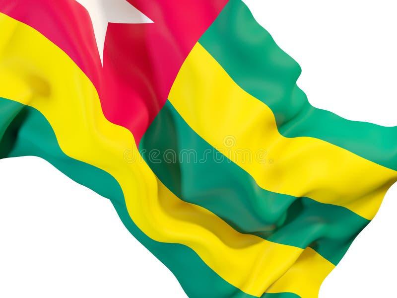 Bandiera d'ondeggiamento del Togo illustrazione vettoriale