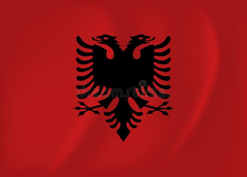 Bandiera d'ondeggiamento dell'Albania illustrazione di stock