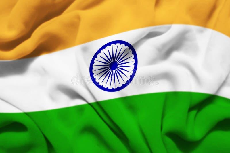 Bandiera d'ondeggiamento dell'India illustrazione vettoriale
