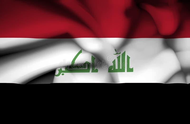 Bandiera d'ondeggiamento dell'Irak illustrazione vettoriale