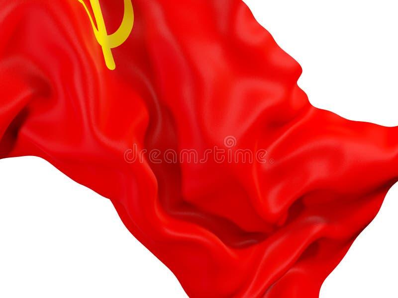 Bandiera d'ondeggiamento dell'URSS illustrazione vettoriale
