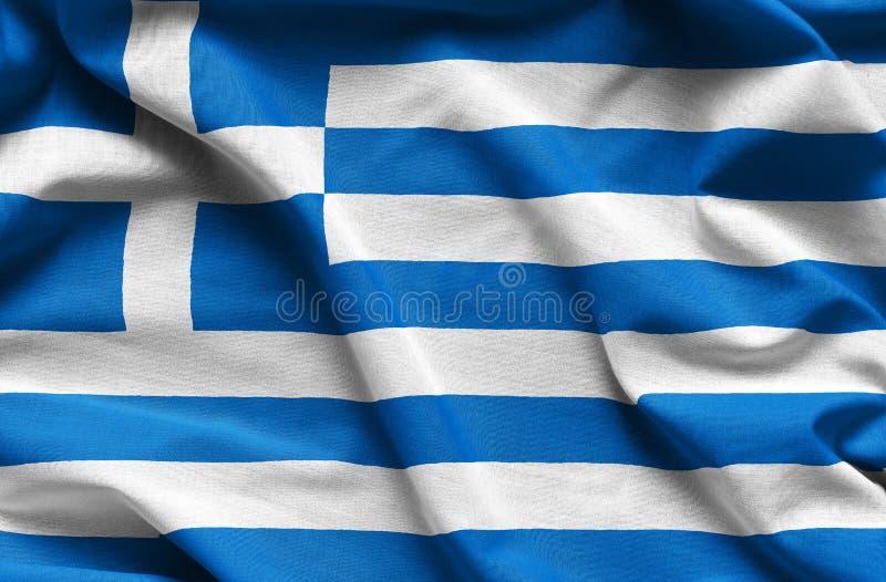 Bandiera d'ondeggiamento della Grecia immagine stock libera da diritti