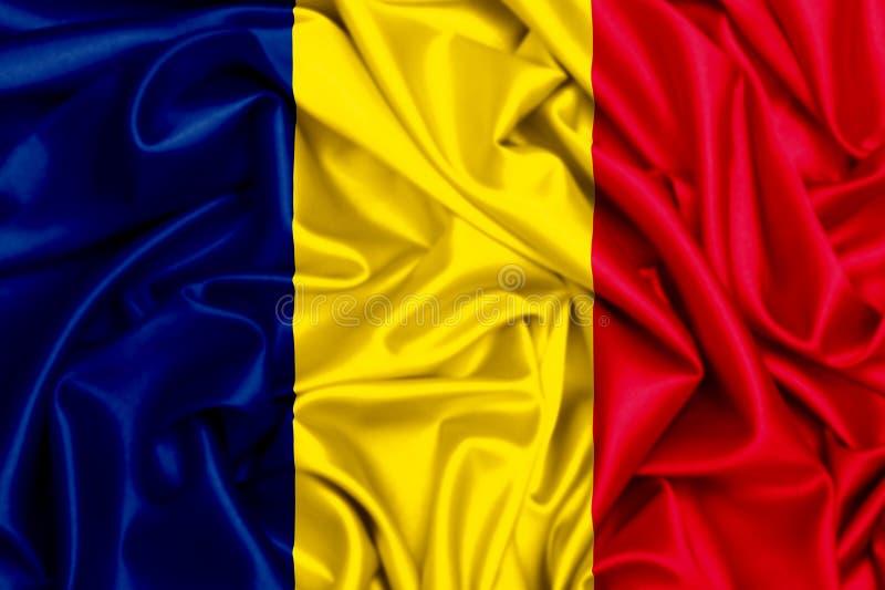bandiera d'ondeggiamento 3d della Repubblica del Chad illustrazione di stock
