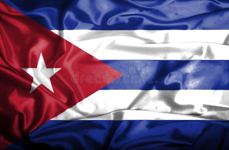 Bandiera d'ondeggiamento di Cuba illustrazione di stock