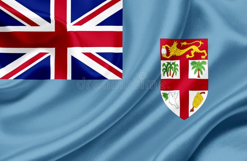 Bandiera d'ondeggiamento di Figi illustrazione di stock