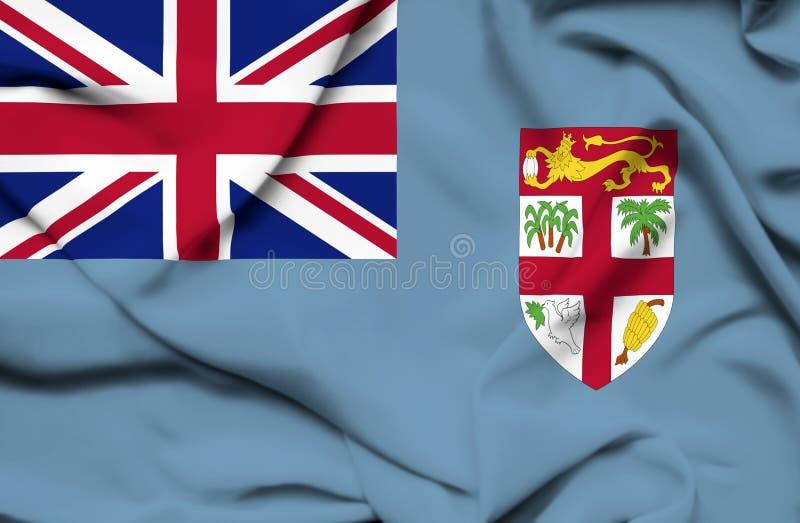 Bandiera d'ondeggiamento di Figi illustrazione vettoriale