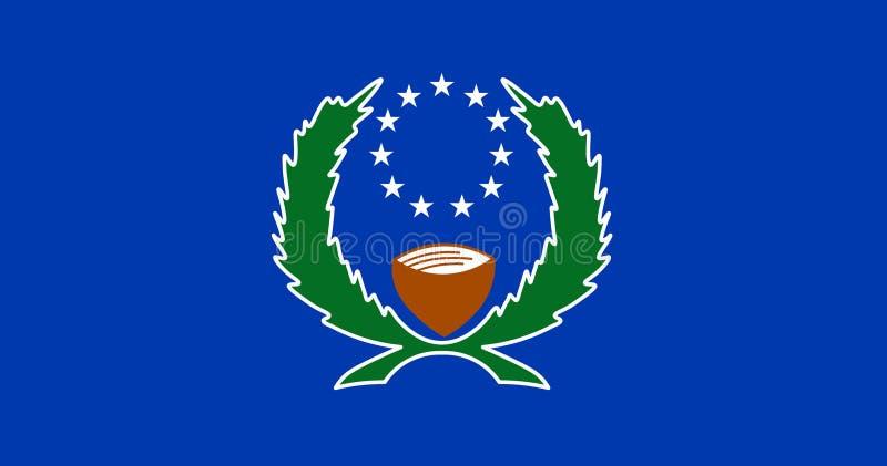 Bandiera degli Stati Federati di Micronesia Illustrazione di vettore Bandiera del mondo illustrazione di stock