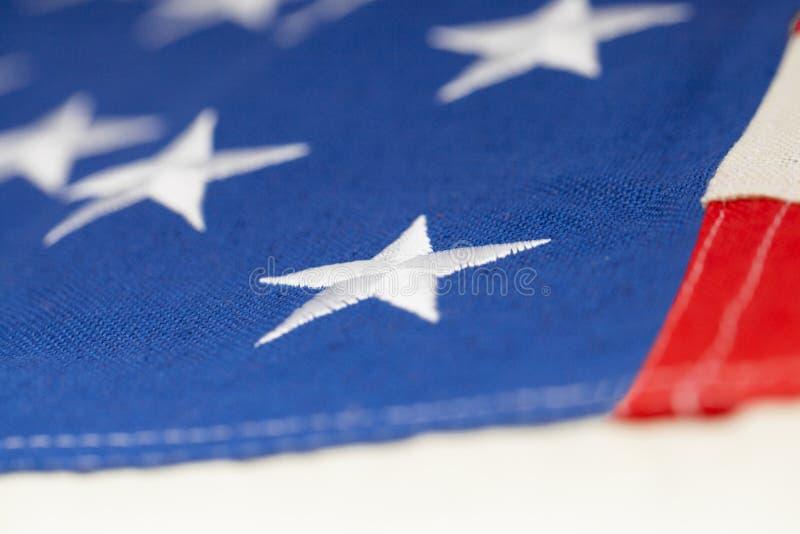 Bandiera degli Stati Uniti d'America - colpo dello studio del primo piano immagine stock libera da diritti