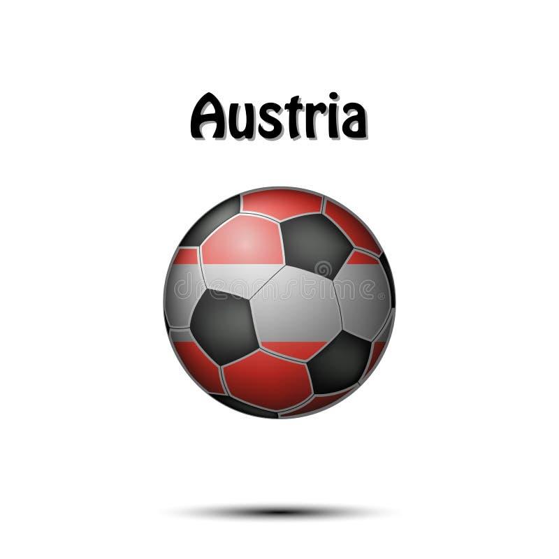 Bandiera dei Paesi Bassi sotto forma di pallone da calcio royalty illustrazione gratis