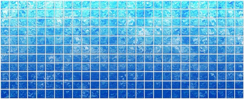 Insegna dei quadrati blu iridescenti illustrazione di stock