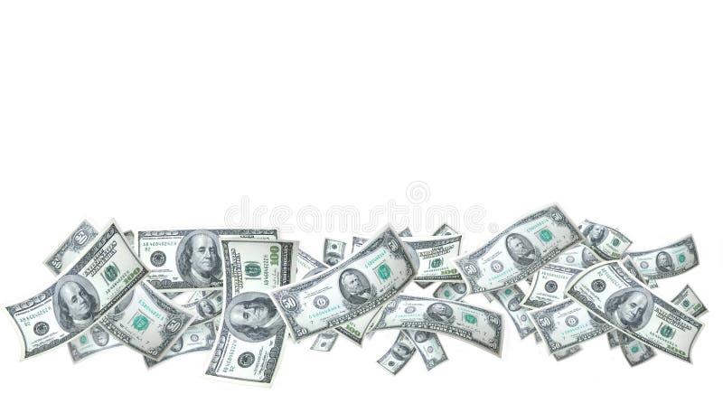 Bandiera dei soldi fotografia stock libera da diritti