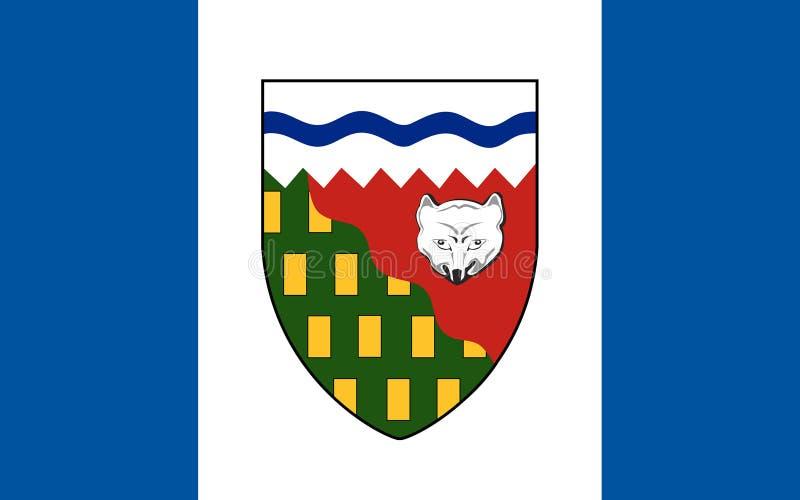 Bandiera dei Territori del Nord Ovest, Canada illustrazione vettoriale