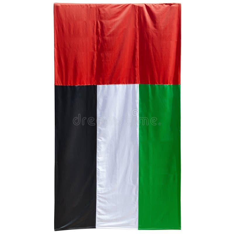 Bandiera dei UAE - foto reale fotografia stock